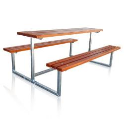 """""""Pivní set"""" pevné lavice se stolem 200cm"""