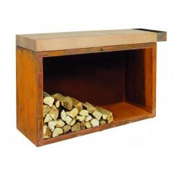 OFYR BUTCHER BLOCK STORAGE XL pracovní stůl pro venkovní kuchyni s dřevníkem 45-135-88