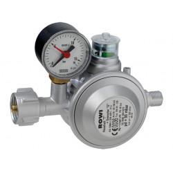 ROWI regulátor tlaku plynu s tepelnou ochranou pro použití plynových ohřívačů v interiéru.
