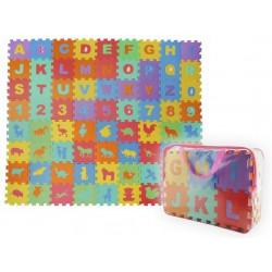 Dětská hrací podložka puzzle 16 x 16 cm, 72 ks