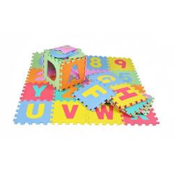 Dětská hrací podložka puzzle 30 x 30 cm, 36 ks