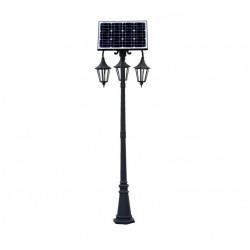 Venkovní LED stojací solární retro lampa 230cm