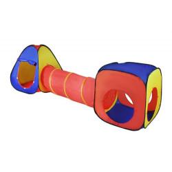 Dětský hrací stan set s tunelem 3 v 1