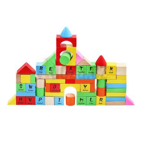 Dřevěné hrací kostky 100ks